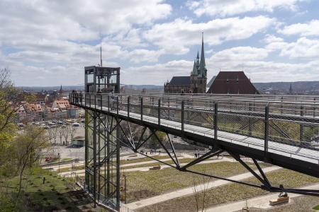 Panoramaaufzug Zitadelle Petersberg BUGA 2021