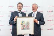 Preisträger des Ursula Späth Preises 2017 Prof. Dr. med. Peter Flachenecker mit Laudator Thomas Strobl