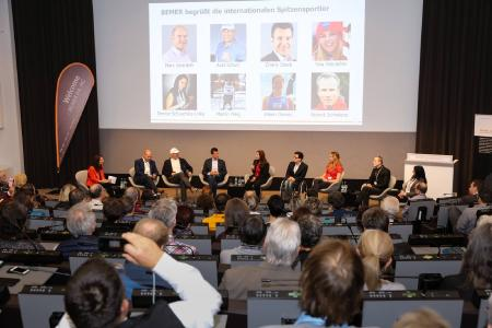 Podiumsdiskussion beim BEMER Sportkongress in Basel 2016 (Foto: Michael Hampel)