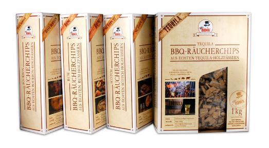 Abb 1: Mr. BBQ® Räucherchips Bourbon, Scotch, Tequila und Rum