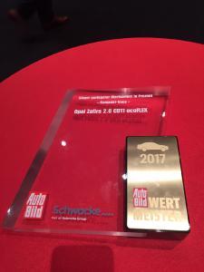 Auszeichnung Opel Zafira Wertmeister 2017