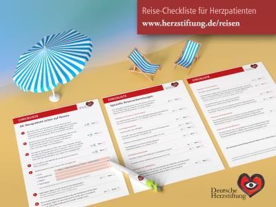 Herzkrank sicher in den Urlaub: Reise-Checkliste für Herzpatienten
