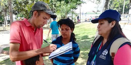 ADRA Kolumbien hilft venezolanischen Migranten © Foto: ADRA Colombia/AdventistWorld.org