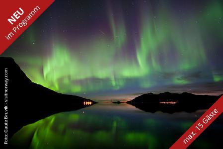 Eine hohe Polarlicht-Sichtungschance gibt es bei der Wanderwoche im nordischen Herbst