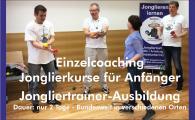 Jonglierkurse für Anfänger - Jongliertrainer-Ausbildung bundesweit in mehreren Städten