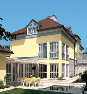 Moderne Fassadendämmsysteme bieten nahezu unbegrenzte Gestaltungsmöglichkeiten für jeden Haustyp, Foto: Caparol Farben Lacke Bautenschutz
