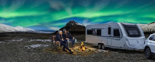 In the future, campers will be able to enjoy the solitude of remote places for considerably longer than before without an external power source but equipped with powerful 48-Volt on-board voltage. Photo: Knaus Tabbert GmbH