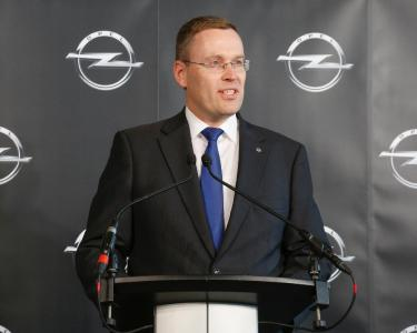 Christian Müller, Vice President GM Global Propulsion Systems, Europe at the inauguration of the Global Propulsion Systems Center in Rüsselsheim