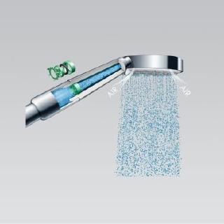 Wasser sparen: Die ausgeklügelte Durchflussbegrenzung in hansgrohe Brausen senkt den Wasserverbrauch auf 9 bzw. 6 l/min / Copyright: hansgrohe / Hansgrohe SE