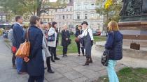 Mitglieder des Verein Städtetourismus bei der Stadtführung in Eisenach