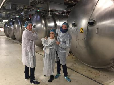 Wir produzieren fleissig frooggies für Euch. Die gefrorenen Früchte kommen in die Vakuumkammer, wo das Wasser entzogen wird. Danach werden sie fein gemahlen