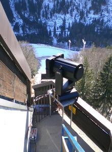 Aufbau zur Skiflug-WM