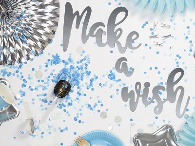 Tolle Party Deko in den Farben Blau und Silber.