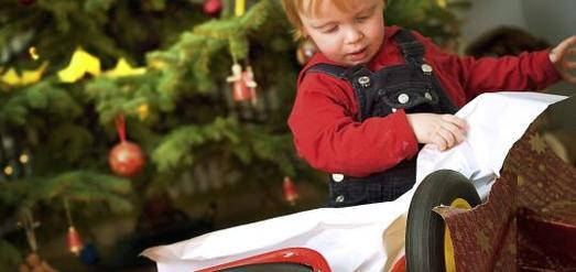 Ein Fahrrad als Weihnachtsgeschenk für Kinder