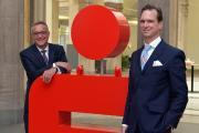 Sparkassenvorstände Dr. Tim Nesemann und Thomas Fürst (v.r.n.l.) / Copyrigh: Die Sparkasse Bremen, Foto: MBahlo