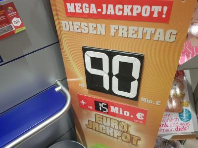 Doppeljackpot von 117 Millionen Euro