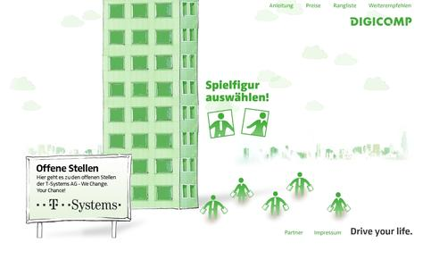 Digicomp sucht den «Überflieger 2009» -Online-Spiel mit Karrierechancen
