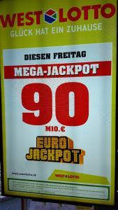 Mega-Jackpot von 90 Millionen Euro