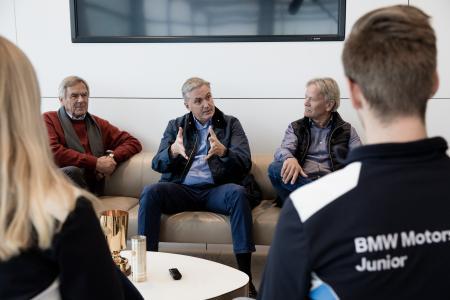 Interviewrunde, Jochen Neerpasch, Eddie Cheever, Marc Surer
