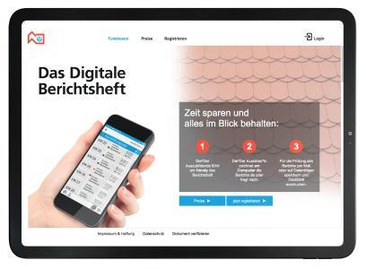 Schnell und einfach anmelden: Das digitale Berichtsheft entlastet Azubis und Ausbilder / Foto: DDH