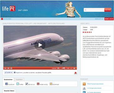 Screen lifePR-Videoportal (video.lifepr.de)
