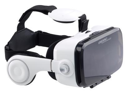 ZX 1638 1 auvisio Virtual Reality Brille mit integrierten Kopfhoerern 3D Justierung