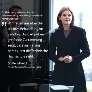 Präsidentin Dr. Muriel Helbig, Foto (FHL)