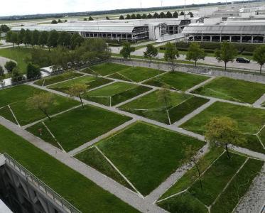 Vom Garagendach bis zum Parkhaus können mit Dachbegrünung Biotope geschaffen werden
