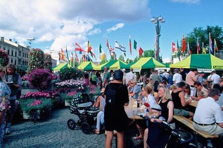 Finnisches Marktleben