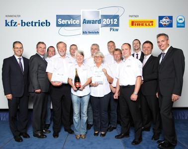 Sieger des Service Awards  in der Kategorie Pkw ist das Mercedes-Autohaus BrinkmannBleimann in Güstrow geworden