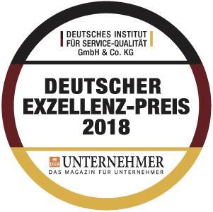 "Siegel Exzellenz Preis 2018 / Copyright ""Deutscher Exzellenz-Preis"""