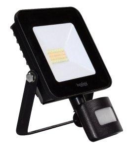 Luminea Home Control WLAN-Fluter LED-160, CCT-LEDs, App, Sprachsteuerung, PIR, 1.600 lm, 20 Watt, IP44