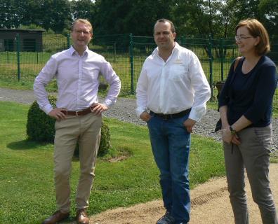Dr. Jens Mischak, Stephan Jöckel und Andrea Ortstadt (von links)
