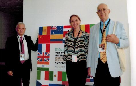 Von links nach rechts: Prof. Giuseppe Venturella (University of Palermo), Dr. Liudmila Kalitukha (Good Feeling Products GmbH), Prof. Solomon P. Wasser (University of Haifa, National Academy of Sciences of Ukraine)