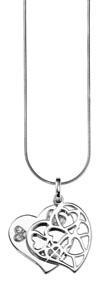 01 | Collier mit Anhänger | 45 cm, Sterling Silber 925, rhodiniert, nickelfrei, Zirkonia synth. | 59,95 Euro | inklusive Schlüsselanhänger und Geschenkbox