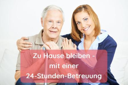 Zu Hause bleiben mit einer 24h Betreuungskraft; Copyright: Adobe Stock