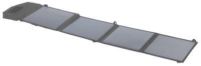 NX 2742 01 revolt Mobiles faltbares Solarpanel. 4 monokristalline Solarzellen 50 Watt / Copyright: PEARL.GmbH / www.pearl.de