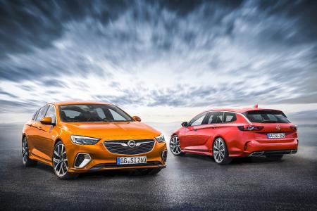 Opel-Jahresrückblick 2017: Für Fans von kompromisslosen Fahrmaschinen: Der neue Opel Insignia GSi ist als Limousine (links) und als Sports Tourer am Start