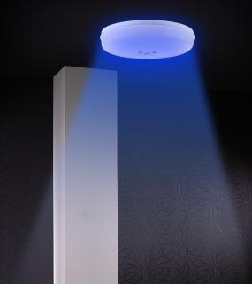 Luminea Home Control RGBW-LED-Deckenleuchte, kompatibel mit Amazon Alexa und Google Assistant