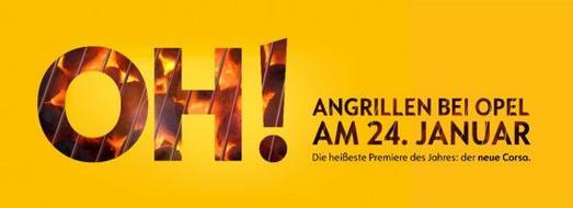 """""""OH!-Angrillen bei Opel am 24. Januar"""": Unter diesem Motto startet bei den Opel-Händlern die erste bundesweite Grillparty des Jahres"""