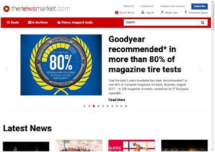 Screenshot TheNewsMarket