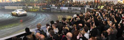 Drift-Künste in der Motorsportarena