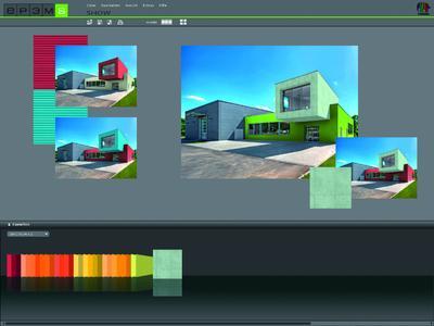 SPECTRUM 4.0 SHOW - Farbe bekennen: Mit einer Diashow können Entwürfe bei Kunden hervorragend präsentiert werden