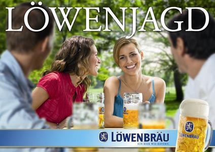 Bayrische Lebensfreude mit Wortwitz: die beiden ersten Motive der sympathischen Löwenbräu-Dachmarkenkampagne