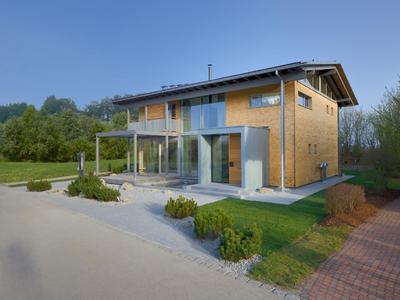 baufritz musterhaus alpenchic in neuer. Black Bedroom Furniture Sets. Home Design Ideas