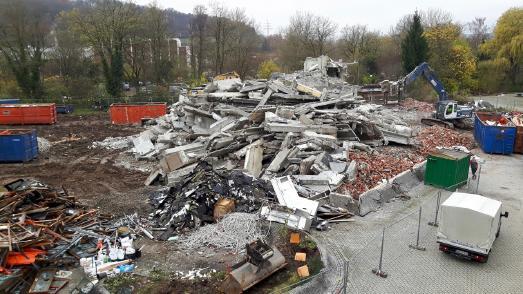 Das ehemalige Wohnheim in Tübingen nach dem Abriss