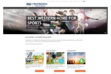 Best Western Hotels & Resorts sind Partner für den Sport: Auf der neuen Sportwebseite finden Profi- und Amateurgruppen sowie Vereine ab sofort geeignete Best Western Hotels, Trainingsmöglichkeiten oder Partnerschaften für Trainingslager und Auswärtsspiele