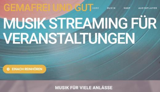 NEU bei MUSIC2BIZ - gemafreie Musik für Messeaussteller, Event-Veranstalter und Vereine unter www.gemafrei-und-gut.de