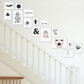 15er Bilderrahmen-Set  zur Gestaltung einer individuellen Bilderwand im Treppenhaus oder Treppenaufgang