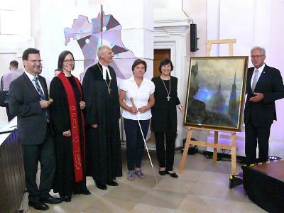 (von l.): Matthias Derrer, Cornelia Wolf, Detlev Bierbaum, Irmgard Badura, Elisabeth Hann von Weyhern, Richard Bartsch / Fotorechte: EGG